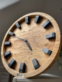 Wooden Clock Plans, Wall Clock Wooden, Wood Clocks, Home Decor Boxes, Diy Crafts For Home Decor, Wood Crafts, Clock Art, Diy Clock, Wood Shop Projects