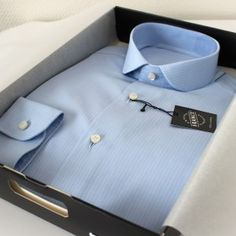 chemise bleu, chemise en coton, chemise coton, chemise homme, chemise luxe, chemise col rond, chemise col eton, chemise bleue, chemise poignets simples,