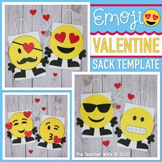 Source by tmimic bag Valentine Theme, Valentine Box, Valentines Day Party, Valentine Ideas, Valentine's Day Crafts For Kids, Valentine Crafts For Kids, Emoji Templates, Valentines Card Holder, Emoji Characters