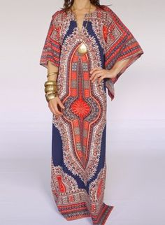 Vintage 1960s Dashiki kaftan dress. No wonder I like it....1960s later years, and I did have a couple.