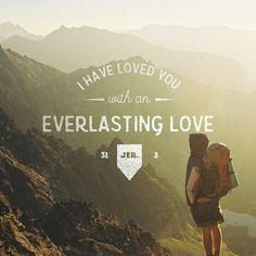 Hace mucho tiempo se me apareció el Señor y me dijo: «Con amor eterno te he amado; por eso te sigo con fidelidad, Jeremías 31:3 NVI http://bible.com/128/jer.31.3.NVI