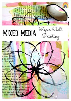 Mixed Media Paper Roll Printing enables children to explore different materials and concepts to enhance their art and creativity with depth and texture. Craft Projects For Kids, Art Projects, Kids Crafts, Easter Crafts, Easy Art For Kids, Epic Kids, Kids Diy, Creative Arts And Crafts, Creative Kids