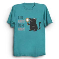 Catty Thoughts Funny Puns Cat Shirt Kawaii Cute Cats T-Shirt