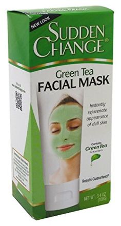 Sudden Change Green Tea Facial Mask 34oz 2 Pack *** To view further for this item, visit the image link.(This is an Amazon affiliate link and I receive a commission for the sales)