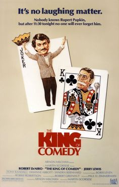 THE KING OF COMEDY, Directed by Martin Scorsese, starring Robert De Niro and Jerry Lewis. Click through for retrospective interview with Scorsese + cast. Jerry Lewis, Martin Scorsese, Liza Minnelli, George Harrison, Great Films, Good Movies, Popular Movies, Die Wilde 13, Sandra Bernhard