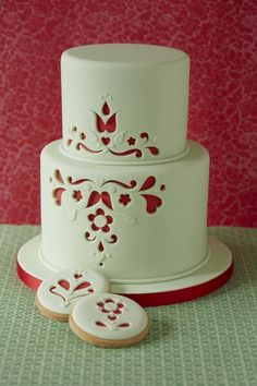 https://www.facebook.com/pages/Zoe-Clark-Cakes/15383838070 Folk style cut-out designs in issue 70 of Cake Decorating magazine.