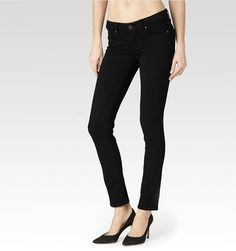 Paige Skyline Skinny in Black Shadow Women's Jeans Mid Rise in Size 31 #Paige #Skinny