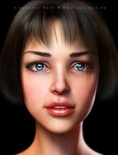 """""""Young Girl"""" – 3D Character, Alexander Beim"""