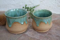 Clay Cup set handmade ceramic large teacup by ManuelaMarinoCeramic