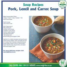 Drink Recipes, Soup Recipes, Keto Recipes, Recipies, Cooking Recipes, Healthy Recipes, Carrot Soup, Smoked Pork, Homemade Soup
