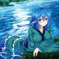 Mythical Sea Creatures, Pokemon, Yukata Kimono, Mermaid Drawings, Mermaids, Chibi, Anime Art, Witch, Fan Art