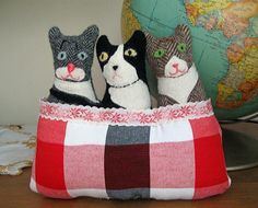 Three Cats in a Basket No. 2 by leafpeople, via Flickr