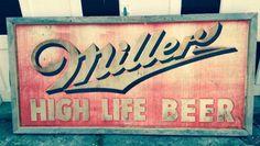 Vintage Miller Beer Sign