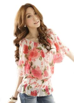 Demarkt Women's Rose Printing Short Sleeves Chiffon Blouse Tops Bottom Down Shirts (Large, Pink) Demarkt http://www.amazon.com/dp/B00JJJOK1S/ref=cm_sw_r_pi_dp_JKVVtb0N3E22JR3R