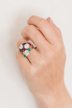 Gemstone accents with James Allen engagement rings