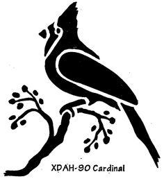SILHOUETTE CARDINAL - Rubber Stamp. $11.50, via Etsy ...  |Cardinal Silhouette Tattoo