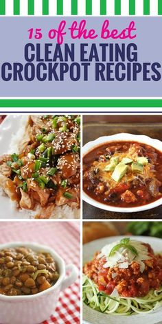 Your slow cooker can be your best friend when it comes to planning your next meal when you're eating clean. Healthy barbecue chicken and great soup for dinner - clean eating never tasted this good. Healthy Meals For Two, Healthy Crockpot Recipes, Slow Cooker Recipes, Beef Recipes, Healthy Eating, Healthy Food, Crockpot Meals, Delicious Recipes, Healthy Life