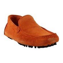 ade2b255613 Roberto Durville Italo - Mocassins - en cuir orange Loafers