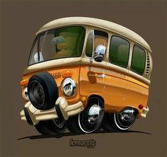 VW caricature