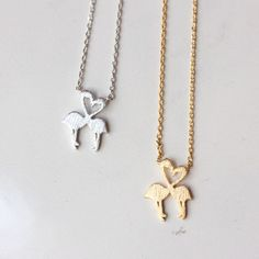 Flamingo Necklace for Women   Handmade. Cute flamingo necklace will fit for any occasions whether it will be Party, Prom, Wedding, Class or Office. Wear this charm necklace as a reminder to stand tall