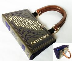Wuthering Heights Recycled Book Purse
