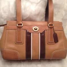 EUC Authentic COACH LEATHER Satchel COACH#J0793-11609. In great shape. No scuffs and stain. Clean liner. Measures 8x12 Coach Bags Satchels