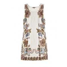 Elephant embellished dress