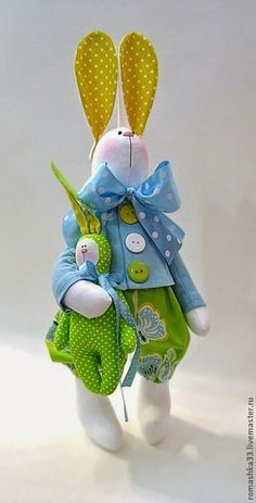 As Fotos Postadas Aqui Foram Retiradas D - Diy Crafts Bunny Crafts, Felt Crafts, Easter Crafts, Sewing Crafts, Sewing Projects, Diy Ostern, Fabric Animals, Fabric Toys, Sewing Dolls