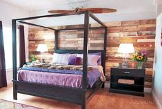 Free woodworking plans from Ana White, a self-taught designer and builder dedicated to helping people create their own furniture. Find the best DIY furniture plans here! Pallet Wall, Bedroom Makeover, Diy Bed, Furniture Plans, Bedroom Bliss, Bed Frame Plans, Bed Plans, Canopy Bed Frame, Farmhouse Canopy Beds