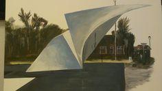 De Vleugel: T.b.v. 5 jaar Kunst in Soesterberg. (Acryl)