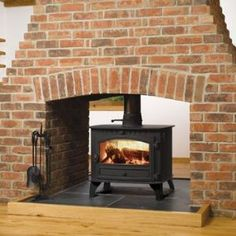 The Hunter Herald 8 Double Sided Wood Burning Stove Is Ideal For Those Rooms That Have A Central Chimney And Want To Heat Both