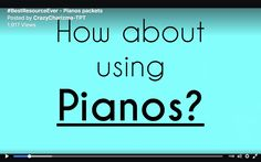 Teachers Pay Teachers shouted out about finding #BestResourceEver - for my kids this year it has been my Pianos packets. The idea of creating something new and building pianos totally rocked. So now kiddos know all word families ;) ... and sing along!