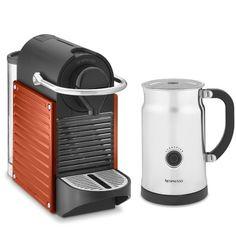 Nespresso Pixie Espresso Maker with Aeroccino Plus Automatic Milk Frother #WilliamsSonoma