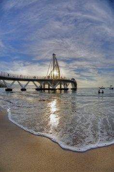 Pier at los muertos beach in Puerto Vallarta, Jalisco Mexico Vacation, Vacation Places, Mexico Travel, Vacation Spots, Places To Travel, Places To See, Vacation Packages, Escape, Romantic Vacations