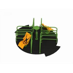 Carusele 2 scaune 4 locuri metal plastic locuri de joaca parc ELEMENTS AP1565