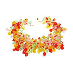 Exceptional Coppola e Toppo Tutti frutti 60s Necklace | From a unique collection of vintage multi-strand necklaces at https://www.1stdibs.com/jewelry/necklaces/multi-strand-necklaces/