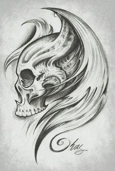 Skull Wings by *KingsArt-1 on deviantART