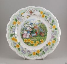 Royal Doulton Brambly Hedge Plate The Outing Jill Barklem Factory Second
