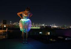 LED Fiber Optic Jellyfish Skirt Instructions :)