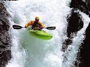 White Water Kayaking - Water Fall Jumping!