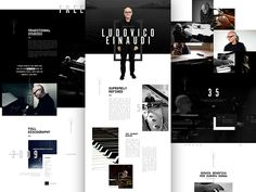 After staring at this for far too long I decided to finally release this into the wild of dribbble. I have been obsessed with Ludovico Einaudi for the past few months and decided his web presence s...