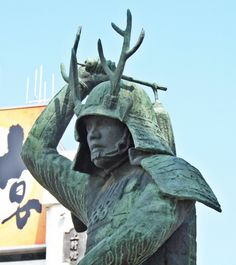 Statue of Sanada Yukimura (Nobushige) which stands in front of Ueda station  #Samurai