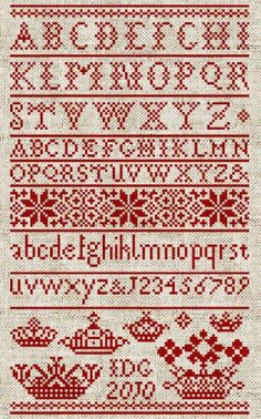 Letters from the North, No. 1 - Instant Download PDF Cross Stitch Embroidery…
