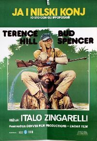 Jugoslawisches Filmplakat. Jugoslawischer Titel: Ja i nilski konj