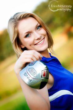 senior portrait pose ideas on golf course - Google Search