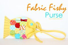 Fabric Fishy Purse (pattern pieces included)