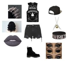 """""""Untitled #146"""" by fashionisbae12 on Polyvore featuring Topshop, Dr. Martens, Brixton and Lime Crime"""