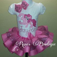 Pinkie Pie My Little Pony Ribbon Tutu Set by RenesBowtique on Etsy