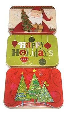 Holiday Gift Card Tins ~ 3 Pack #1 The Lindy Bowman Company https://www.amazon.com/dp/B01LZ6X8E8/ref=cm_sw_r_pi_dp_x_jAnfybY9PYVX8
