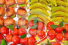 Colorful small Italian pastries made of different forms background.